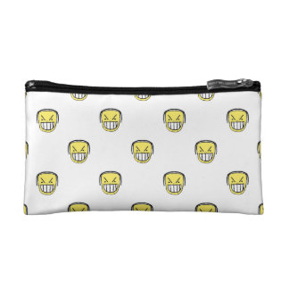 Angry Emoji Graphic Pattern Makeup Bag