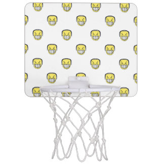 Angry Emoji Graphic Pattern Mini Basketball Hoop