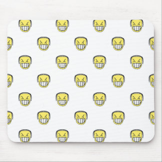 Angry Emoji Graphic Pattern Mouse Pad