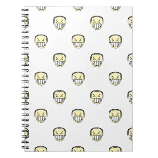 Angry Emoji Graphic Pattern Notebook