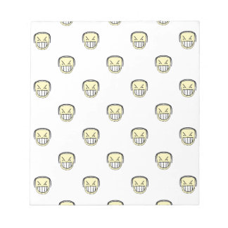 Angry Emoji Graphic Pattern Notepad
