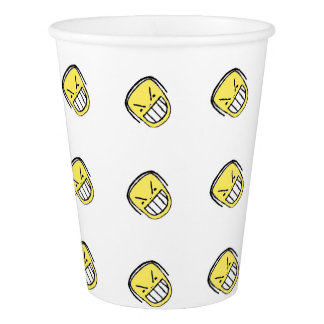 Angry Emoji Graphic Pattern Paper Cup