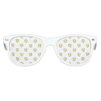 Angry Emoji Graphic Pattern Party Sunglasses
