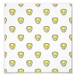 Angry Emoji Graphic Pattern Photo Print