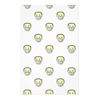 Angry Emoji Graphic Pattern Stationery