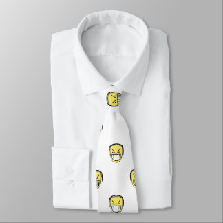 Angry Emoji Graphic Pattern Tie