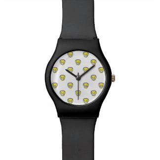 Angry Emoji Graphic Pattern Watch