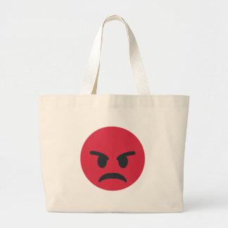 Angry Emoji Large Tote Bag