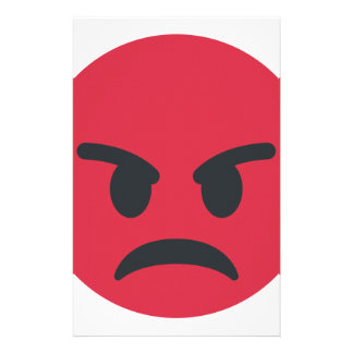 Angry Emoji Personalized Stationery