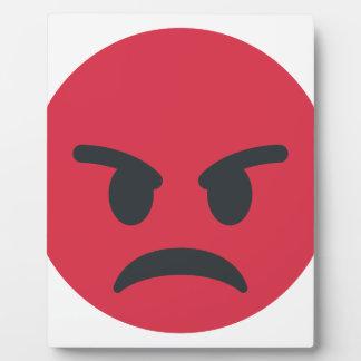 Angry Emoji Plaque