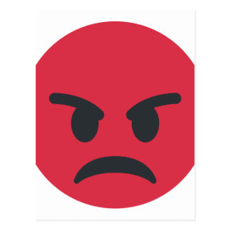 Angry Emoji Postcard