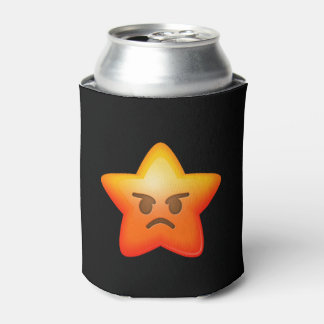 Angry Emoji Star Can Cooler