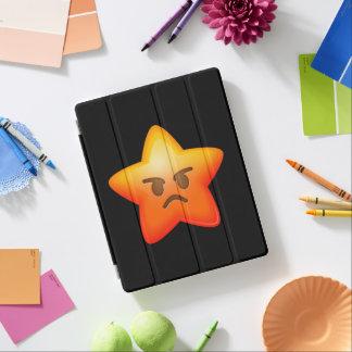 Angry Emoji Star iPad Cover