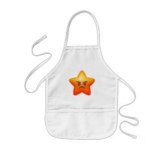 Angry Emoji Star Kids Apron