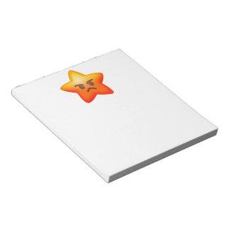 Angry Emoji Star Notepad