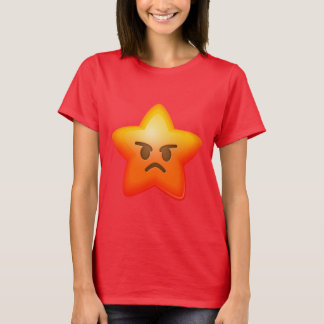 Angry Emoji Star T-Shirt