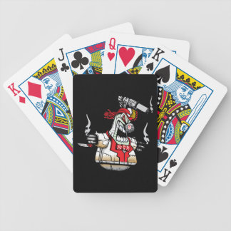 Angry Evil Robot Bicycle Playing Cards