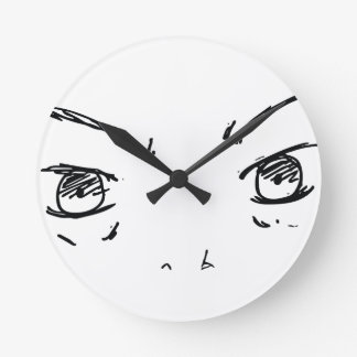 Angry Eyes 1 Round Clock