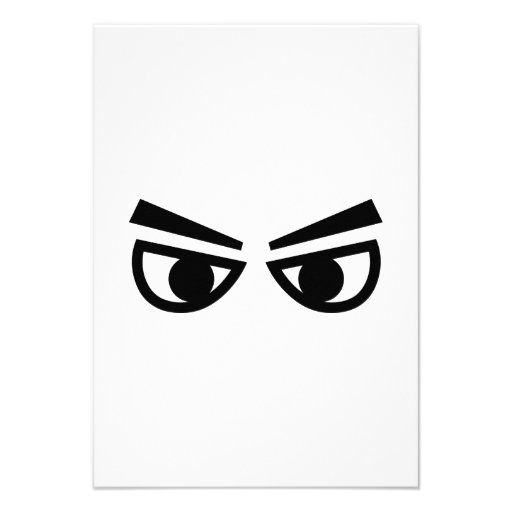 Angry eyes custom announcements