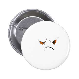 Angry Face 2 Inch Round Button