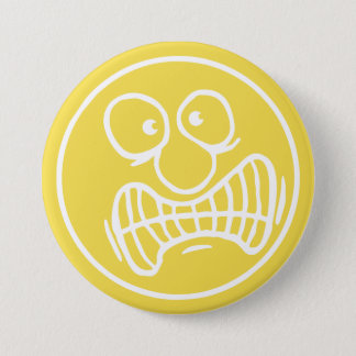 Angry Face 3 Inch Round Button