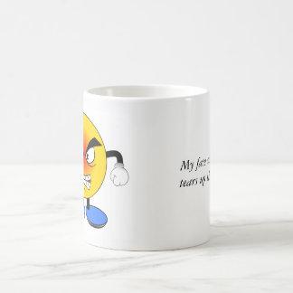 Angry face at my cat coffee mug