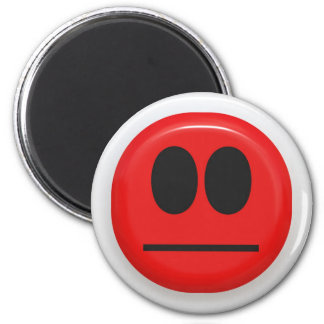 angry face magnet