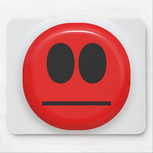 angry face mouse pads