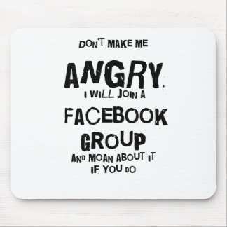 angry facebook mouse pad
