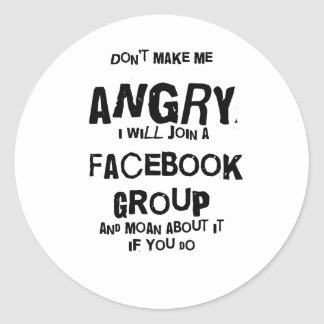 angry facebook round stickers