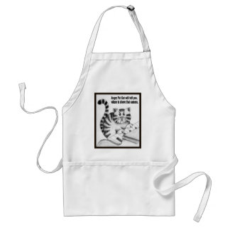 Angry Fat Cat will tell you Aprons