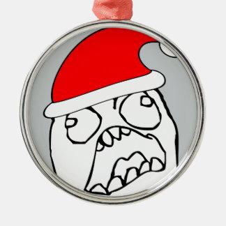 Angry FFFUUU xmas meme Metal Ornament