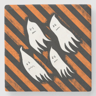 Angry ghost haunt stone coaster