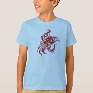 Angry Giant Squid in Red T-Shirt