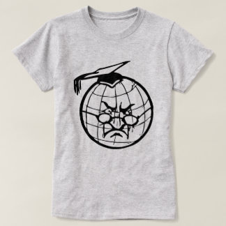 Angry Globe In Mortarboard Professor Teacher Funny T-Shirt