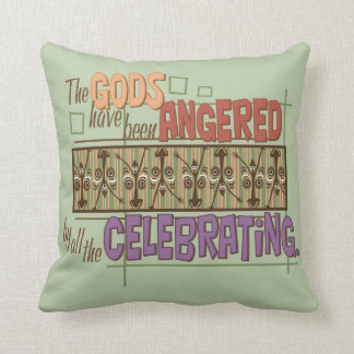 Angry Gods Throw Pillow