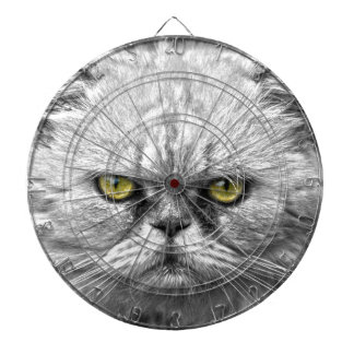 Angry Golden Cat Eyes Dartboard