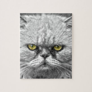 Angry Golden Cat Eyes Jigsaw Puzzle