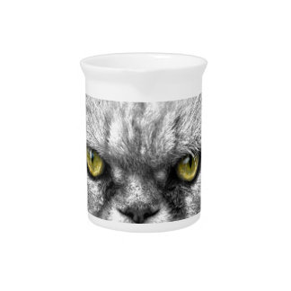 Angry Golden Cat Eyes Pitcher
