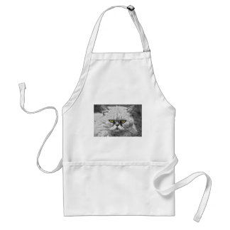 Angry Golden Cat Eyes Standard Apron
