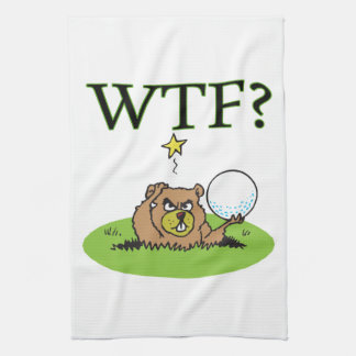 Angry Gopher Kitchen Towel