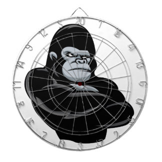 angry  gorilla dartboard with darts