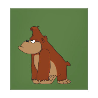 Angry gorilla design stationery canvas prints