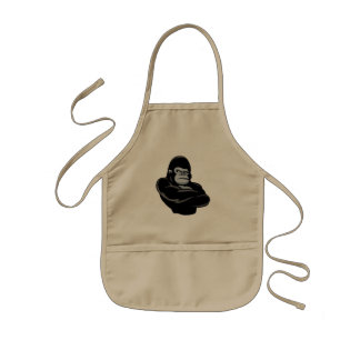 angry  gorilla kids apron