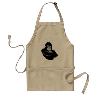 angry  gorilla standard apron