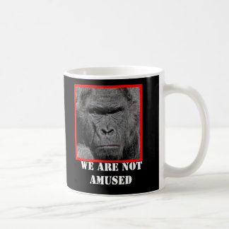 Angry Gorilla We Are Not Amused Coffee Mug