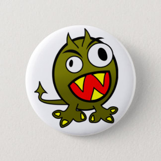 Angry Green Monster 2 Inch Round Button