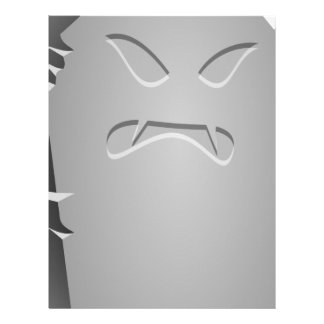 Angry Halloween Tombstone Letterhead