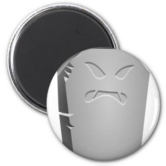 Angry Halloween Tombstone Magnet