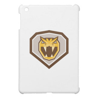 Angry Horned Viper Crest Retro iPad Mini Cases